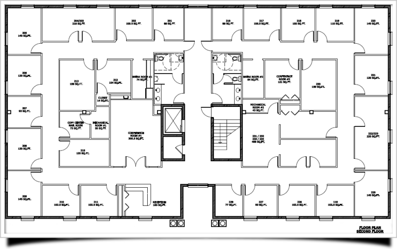 199388 on Mercial Office Building Floor Plan Dimensions